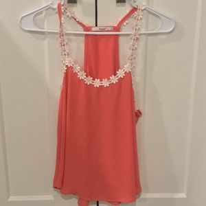 Daisy lined Coral Tank